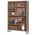 "Wire Brushed Asymmetrical Seven Shelf Bookcase - 42""W x 66""H, 32984"