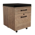 "Urban 18""W Two Drawer Mobile File Pedestal with Cushion Top, 34557"
