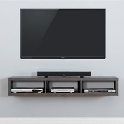 "Shallow Wall Mount TV Component Shelf - 60""W, 91630"