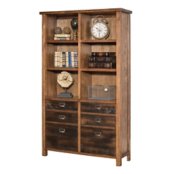 "Ten Shelf Bookcase with Two Doors - 72""H, 35000"
