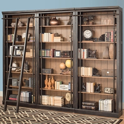 "18 Shelf Bookcase Wall - 94""H, 32836"