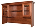 "Hutch with Glass Doors and Touch Lighting - 69""W, 16067"
