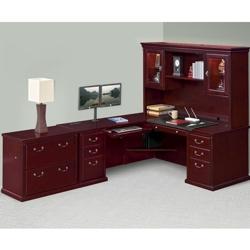 Left L-Desk Hutch and File Set, 14572