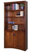 Mission Style Bookcase with Doors, 32736