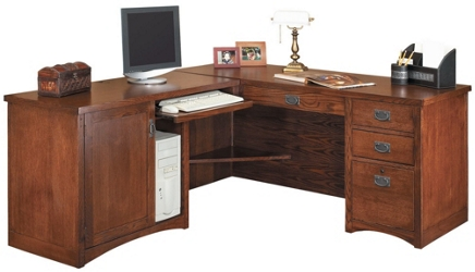 "Left Return L-Desk - 64""W x 74""D, 13533"