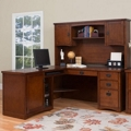 Mission Finish Left Return L-Desk with Hutch, 15687