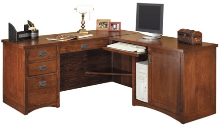 "Right Return L-Desk - 64""W x 74""D, 13531"