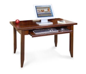 Cherry Table Desk with Keyboard Shelf, 15660