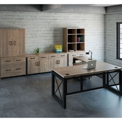 Urban L-Desk with Storage Set , 14574