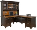 Two-Tone L-Desk w/Right Return and Hutch, 16449