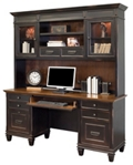 "Double Pedestal Credenza and Hutch - 70.5""W, 16450"