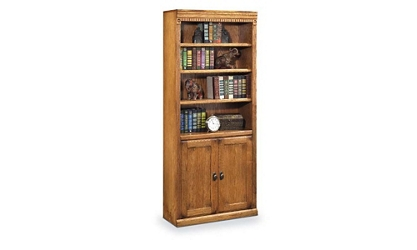 Wheat Oak Two Door Bookcase, 32720