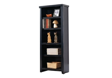 "61"" H Five Shelf Open Bookcase in a Distressed Finish , 32788"