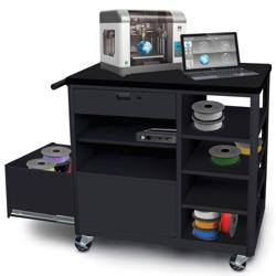 Mobile Two Drawer 3D Printer Cart, 43428