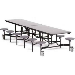 "12' Cafeteria Table with 12 Stools - 30""W x 145""D, 47102"