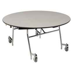 "Round Mobile Cafeteria Table - 60""W x 60""D, 47107"