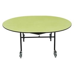"""Oval Mobile Cafeteria Table - 60""""W x 72""""D, 47110"""