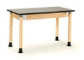 """Adjustable Height Lab Table - 24""""W x 60""""D x 29-41""""H, 47085"""