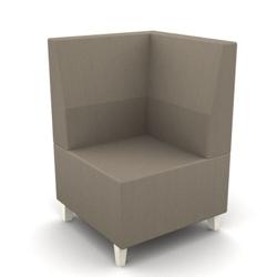 Modern Fabric or Vinyl Corner Chair, 25795