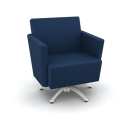 Modern Fabric or Vinyl Swivel Club Chair, 25798