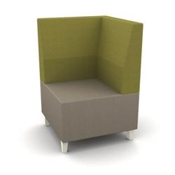 Modern Two Tone Fabric Corner Chair, 25801