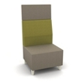 Modern High Back Two Tone Fabric Armless Chair, 25807