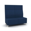 Modern High Back Fabric or Vinyl Armless Loveseat, 25808