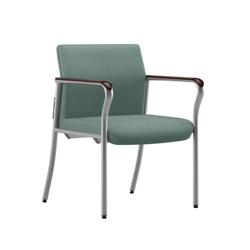 Easy-Clean Fabric Guest Chair with Wall Saver Legs, 25871