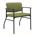 Mid-Size Bariatric Fabric Guest Chair with Wall Saver Legs, 25879