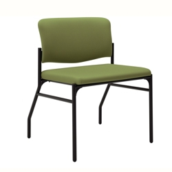 Mid-Size Armless Bariatric Fabric Guest Chair with Wall Saver Legs, 25880