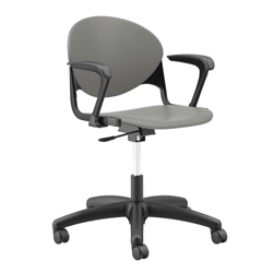 Plastic Task Chair with Black Frame, 56648