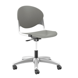 Plastic Armless Task Chair with Platinum Metallic Frame, 56651