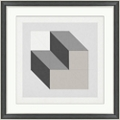 "Analytical Placement 4 Framed Art - 28""W x 28""H, 92589"