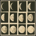 "Phases of the Moon Framed Canvas Art Print - 32""W x 32""H, 92594"