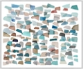 "Ocean Glass Canvas Art Print - 60""W x 50""H, 92611"