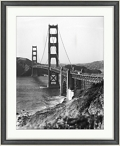 "Golden Gate Bridge Framed Photography - 28""W x 34""H, 92613"