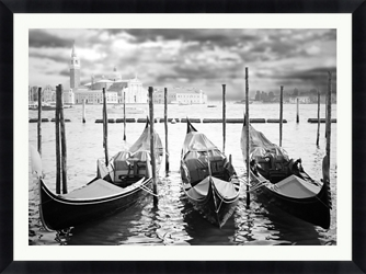"Three Boats Framed Photography - 48""W x 36""H, 92617"