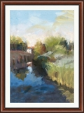 "Canal at Santa Barbara Framed Art Print - 36""W x 48""H, 92629"