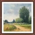 "Backroads 11 Framed Art Print - 42.5""W x 42.5""H, 92630"