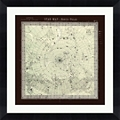 "Star Map Framed Art Print - 30""W x 30""H, 92635"