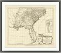 "United States Framed Map Print - 44""W x 38""H, 92640"