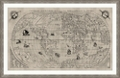 "World Map Framed Art Print - 60""W x 39""H, 92644"