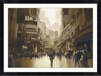 "Commute Framed Art Print - 48""W x 36""H, 92646"