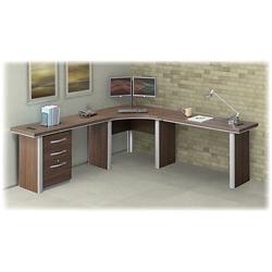 Curved Corner Desk Twin Loft Bed With Desk Underneath