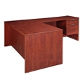 "Solutions Three-Quarter Pedestal L-Desk with Right Return - 71"" x 78"", 10251"