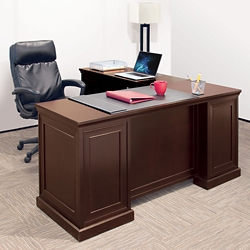 Compact L-Desk with Right Return and Office Chair Set, 14869