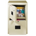 One Drawer Fireproof File with Safe, 36556