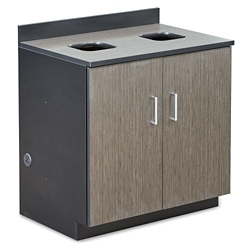 Waste Management Cabinet with Two 36 Gallon Bin Liners, 36627