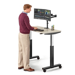 "Lift Pneumatic Adjustable Height Table - 47""W, 46058"