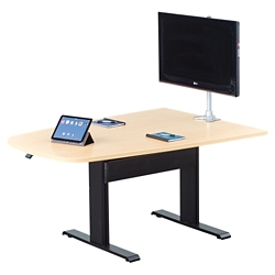 "Eleve Adjustable Height Media Table - 72""x 42"", 46097"